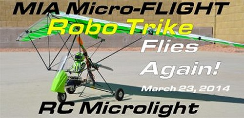 MIA Direct Control RC Microlight 1